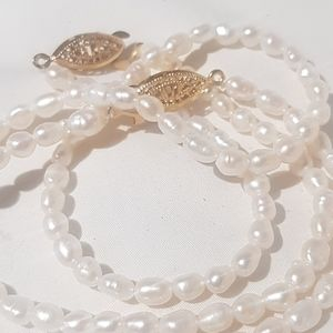 Vintage Jewelry - Vintage pearl necklace and matching bracelet